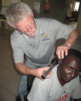 Ear Exam in Haiti