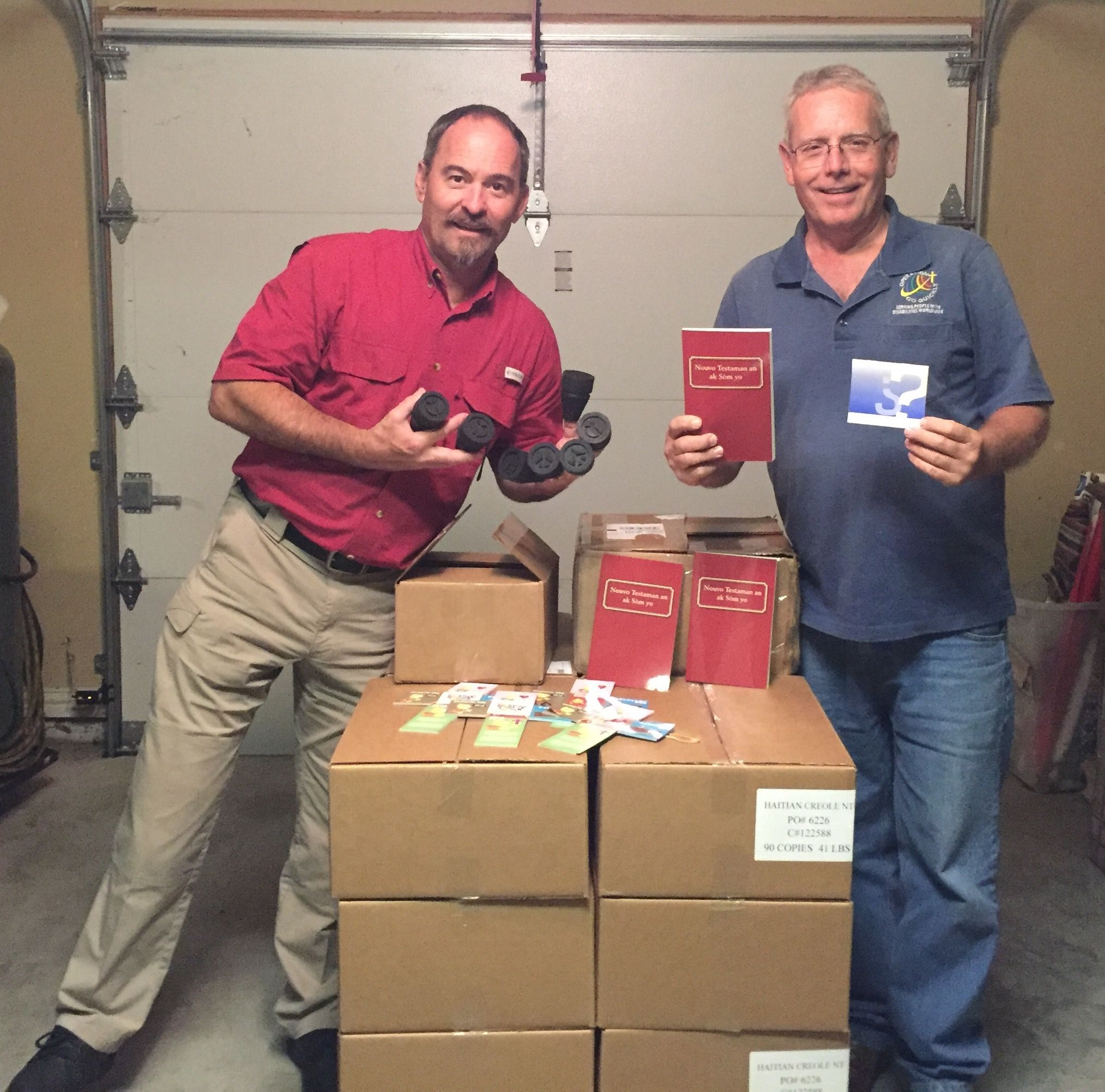Bibles, tracts and crutch tips for Haiti