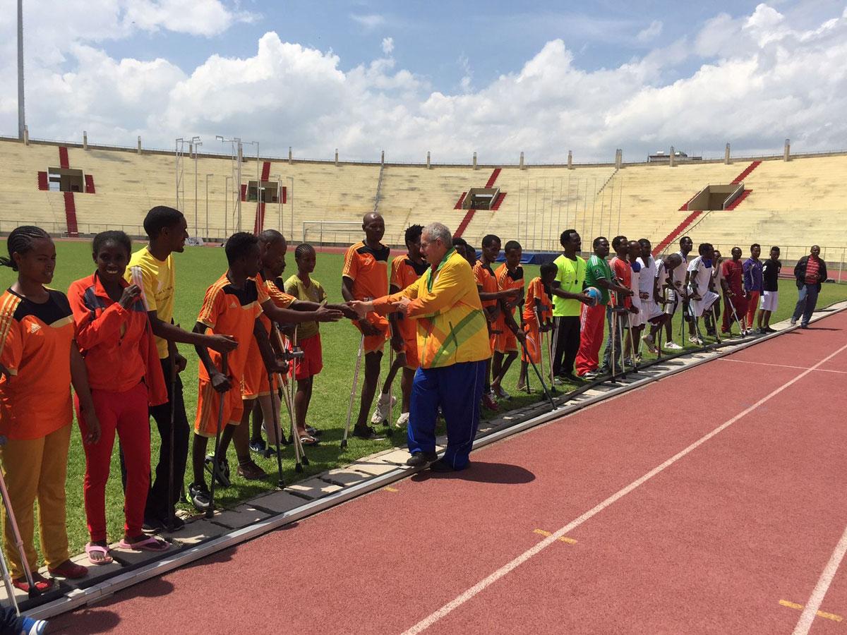 amputee soccer training in hawassa ethiopia