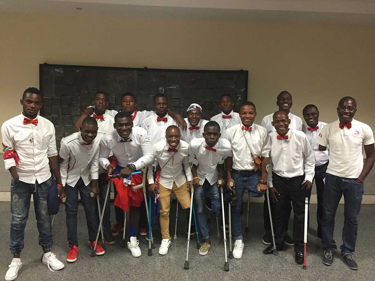 Haiti National Amputee Football Team Arrives in New Orleans
