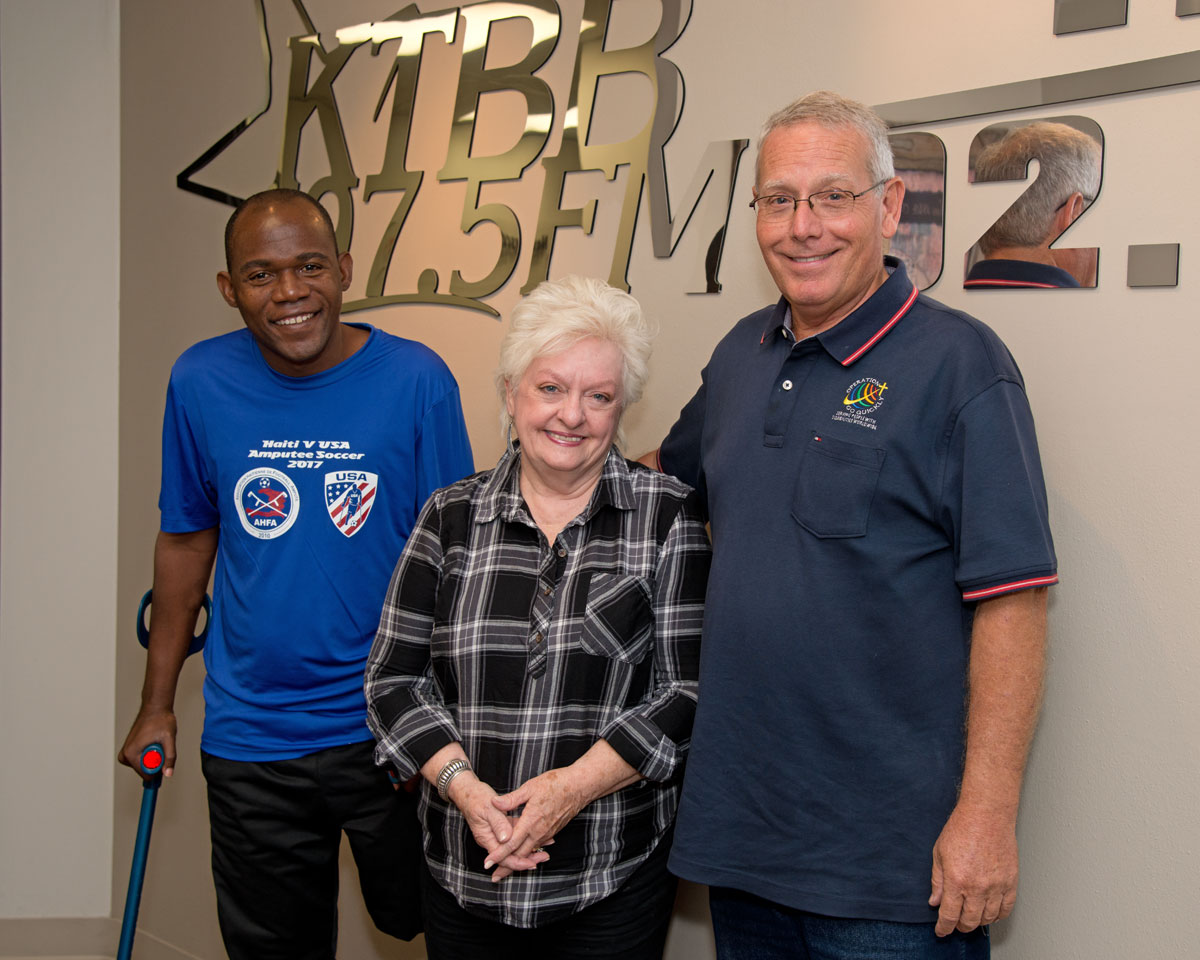 Dr. Fred Sorrels, Francillon Chery and Don Bristow (not pictured) were interviewed by Neita Fran Ward on Art Connection - KTBB radion in Tyler, TX