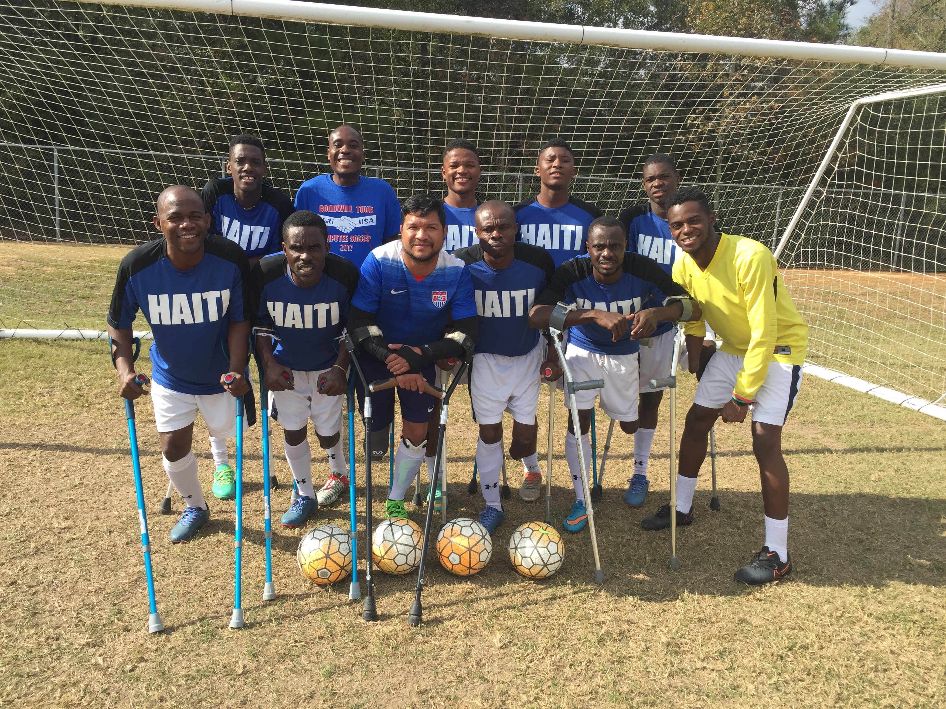 Haiti Ampuitee Soccer Team with Wounded Warrior Robert Ferguson