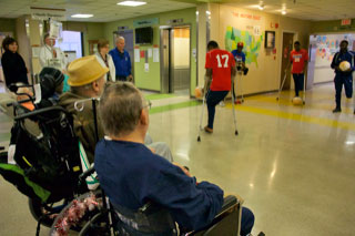 Amputee soccer demo at VA hospital in North Little Rock, AR